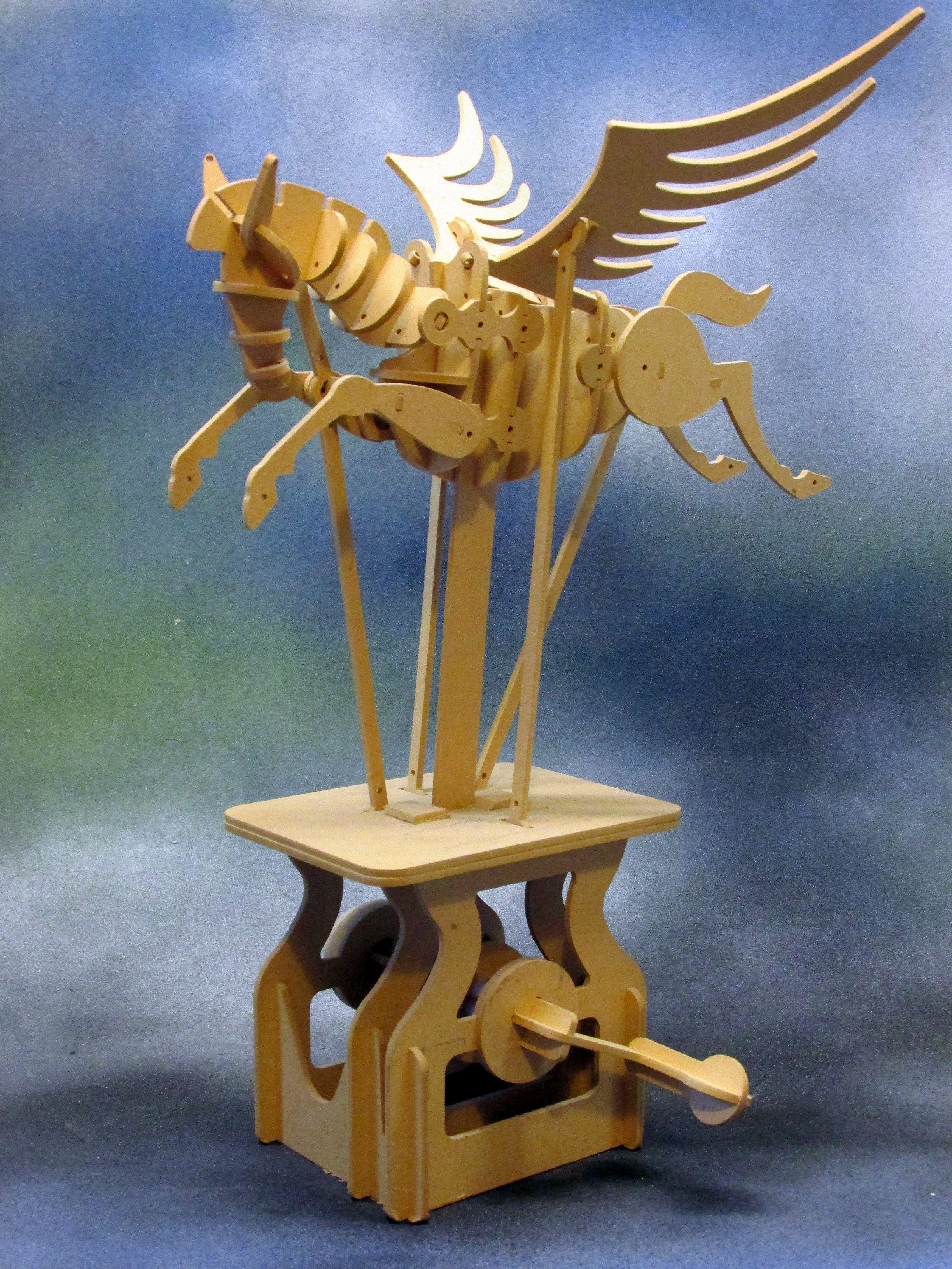 wooden pegasus kit  u2013 keith newstead automata